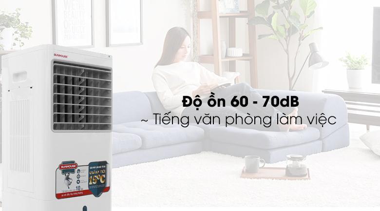 Độ ồn 60- 70 dB củaquạt điều hòa SHD7721 tương đương tiếng văn phòng làm việc hay tiếng thì thầm
