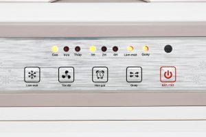 Sử dụng dễ dàng với bảng điều khiển nút nhấn có hướng dẫn tiếng Việt, hẹn giờ tắt tối đa đến 7 tiếng