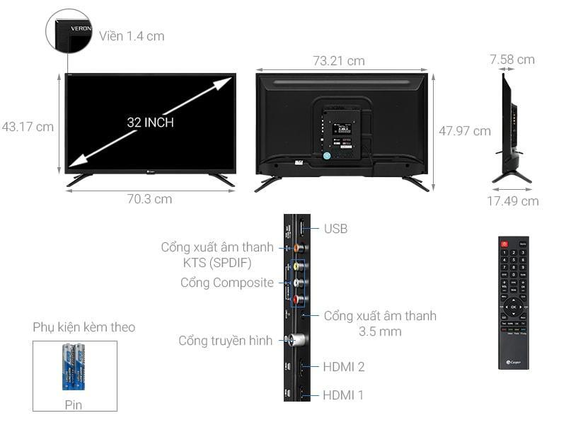 Tổng quan về sản phẩm Tivi Casper 32HN5100