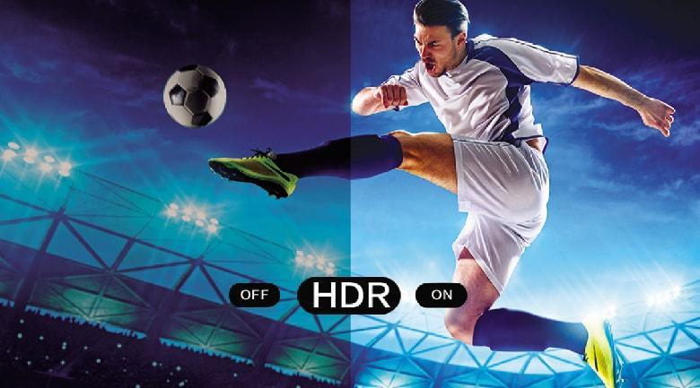 Công nghệ HDR giúp tái tạo màu sắc chân thực và tăng cường độ tương phản