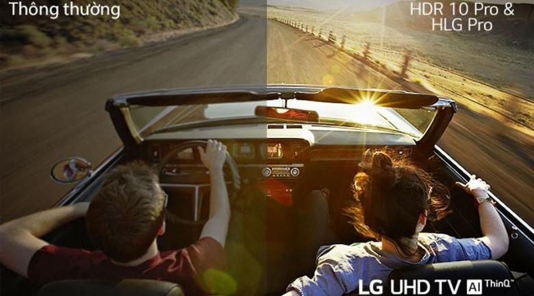 Trang bị công nghệ Active HDR tăng thêm độ tương phản giúp hình ảnh thật hơn