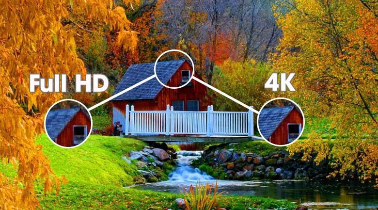 Sở hữu độ phân giải 4K cho hình ảnh sắc nét hơn 4 lần so với TV thông thường