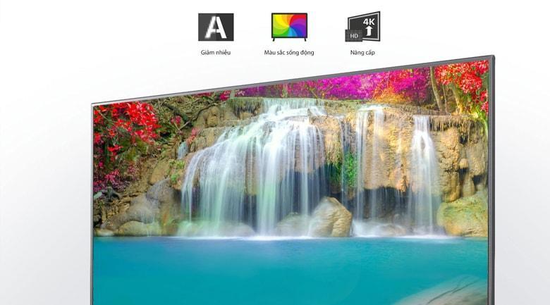Tivi LG 49UN7400 PTA Công nghệ 4K Upscaler vàchip xử lý Quad Core 4K tối ưu màu sắc tối đa, hiệu quả