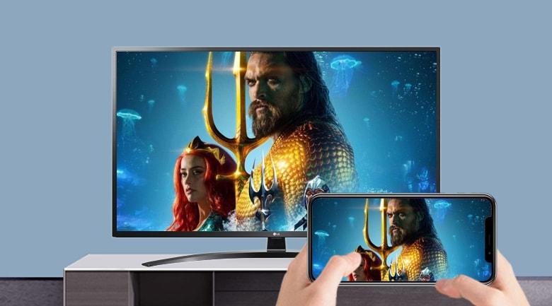 Chiếu toàn bộ màn hình ĐT lên Tivi