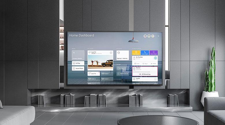 Tivi LG 55NANO81TNA Nhờ trang bị AI ThinQ nên biến TV thành trung tâm điều khiển