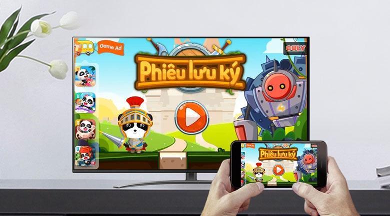 Tivi LG 55NANO81TNA Khả năng chiếu màn hình điện thoại lên màn hình tivi rất tuyệt vời
