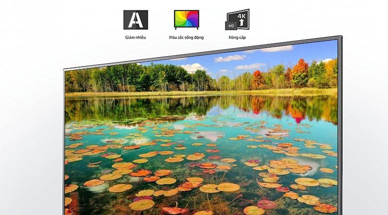 Tivi LG 55UN7290 PTF trang bịchip xử lý Quad Core 4K vừa nhanh vừa tăng cường chi tiết ảnh