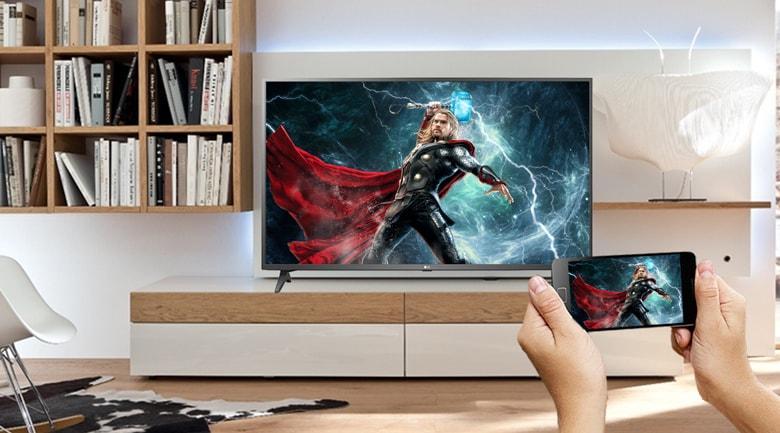 Chiếu toàn bộ màn hình điện thoại lên tivi rất tuyệt vời