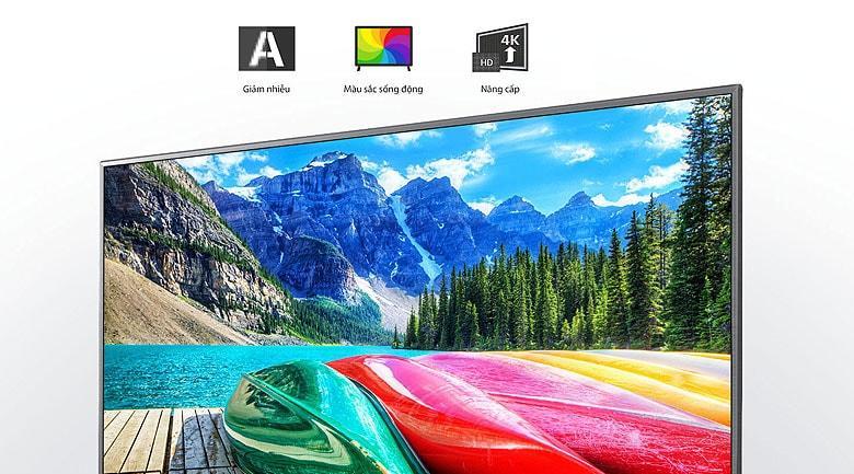 Tivi LG 55UN7400 PTA có thể giảm được nhiễu, tăng cường độ chi tiết hình ảnh