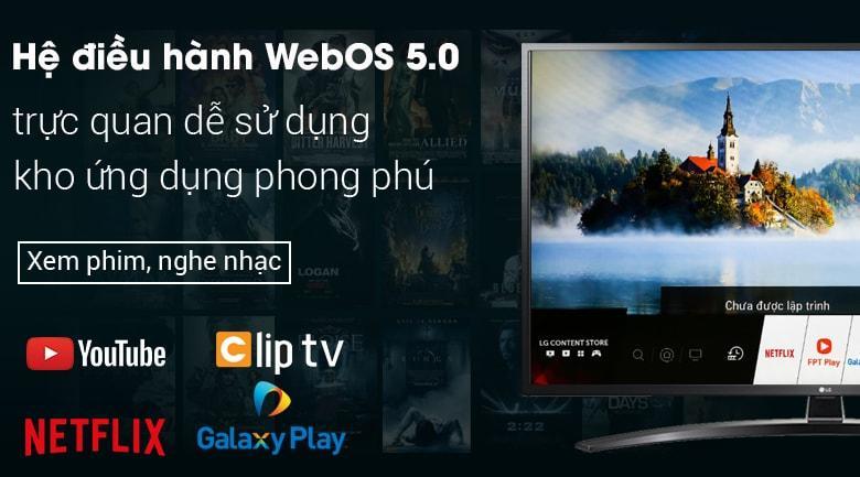 Trang bị hệ điều hành WebOS 5.0 của riêng hãng LG