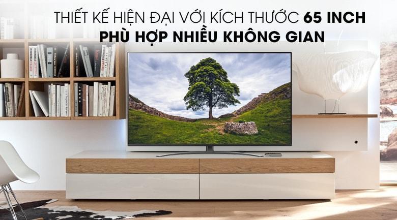 Smart Tivi LG 4K 65 inch 65NANO81TNAvới thiết kế sang trọng