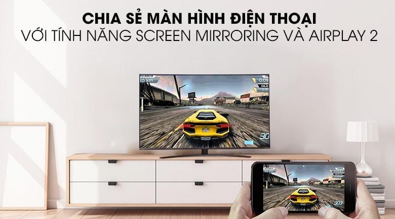 Chiếu màn hình điện thoại lên tivi dễ dàng với tính năngScreen MirroringvàAirPlay2