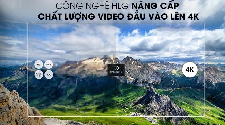 Chất lượng video được nâng cấp lên gần với 4K nhờcông nghệ HLG