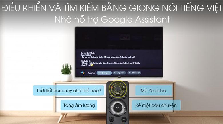 Tivi Casper 32HG5100 được trang bị trợ lý ảo thông minh Google Assistant