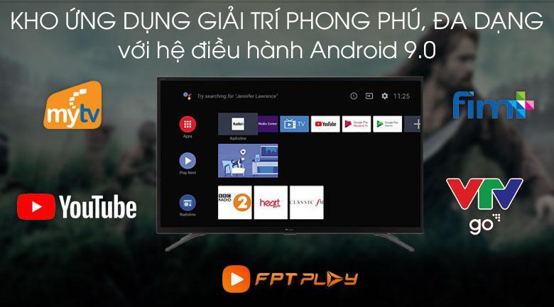 Tivi Casper 32HG5100 sử dụng Android TM 9 Pie và kho ứng dụng đa dạng