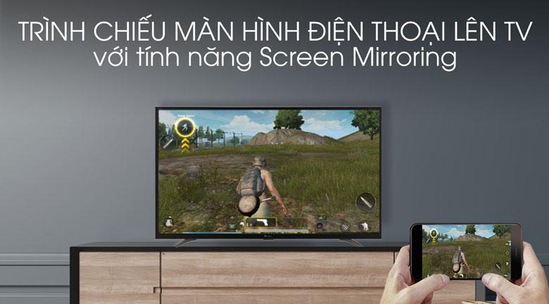 Với Screen Mirroring bạn cũng có thể chiếu màn hình điện thoại lên tivi rất đơn giản