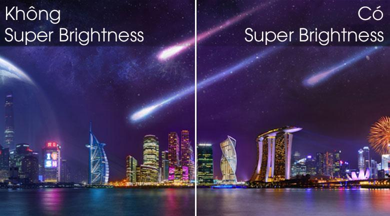 Công nghệ Super Brightness cho hình ảnh sáng và tươi mới hơn