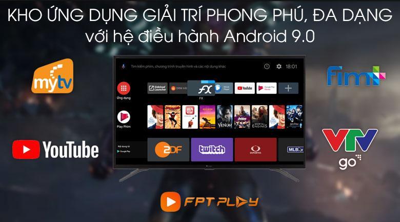 Tivi Casper 43FG5100 sử dụng hệ điều hành Android với kho ứng dụng có sẵn lớn