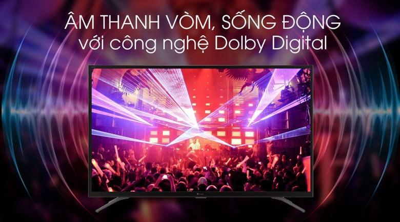 Mang đến công nghệ Dolby Digital cho âm thanh vòm lan tỏa, vô cùng mạnh mẽ
