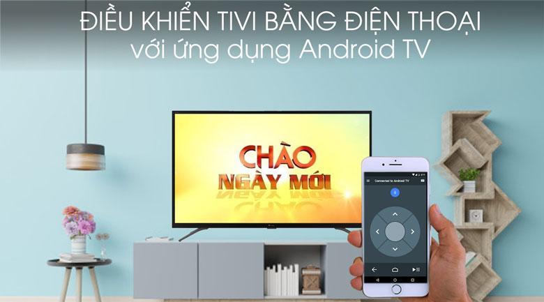 Sử dụng điện thoại thay thế remote thông qua ứng dụng Android TV