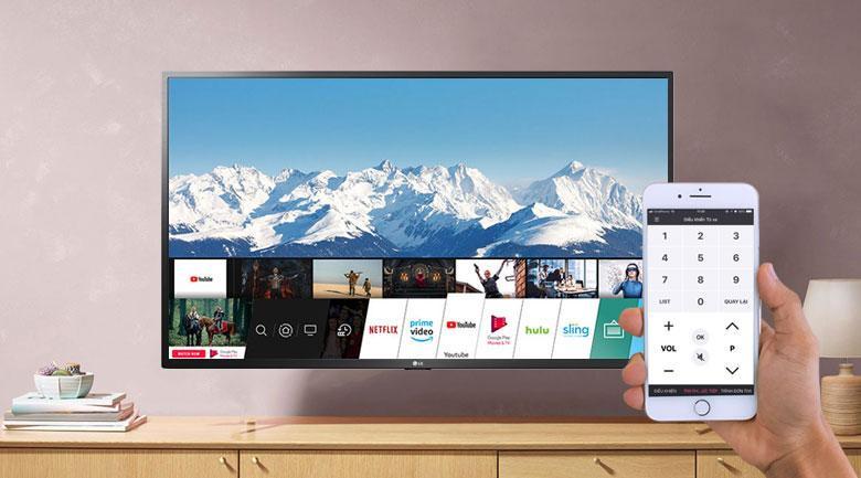 Tivi LG 43UN7290 PTF giúp các bạn điều khiển TV bằng điện thoại đơn giản