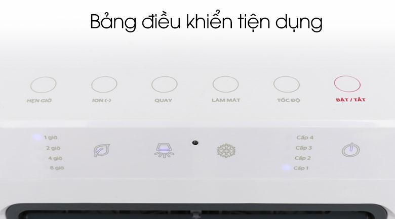 Bảng điều khiển cảm ứng tiện quan sát, thao tác dễ dàng ngôn ngữ Tiếng Việt cụ thể