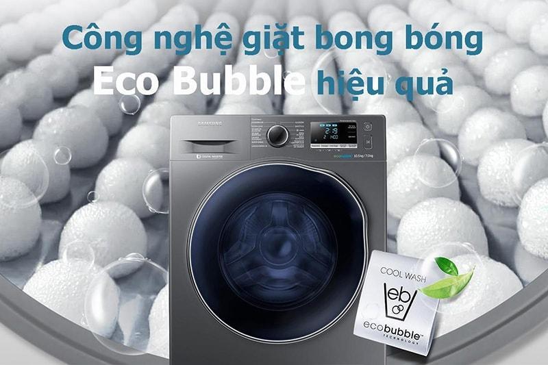công nghệ giặt bong bóng Eco Bubble hiệu quả
