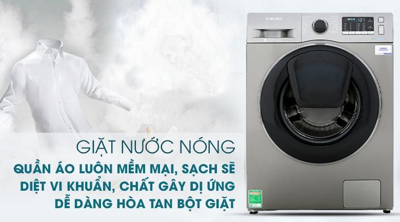 công nghệ giặt nước nóng cho quần áo luôn mềm mại, sạch sẽ