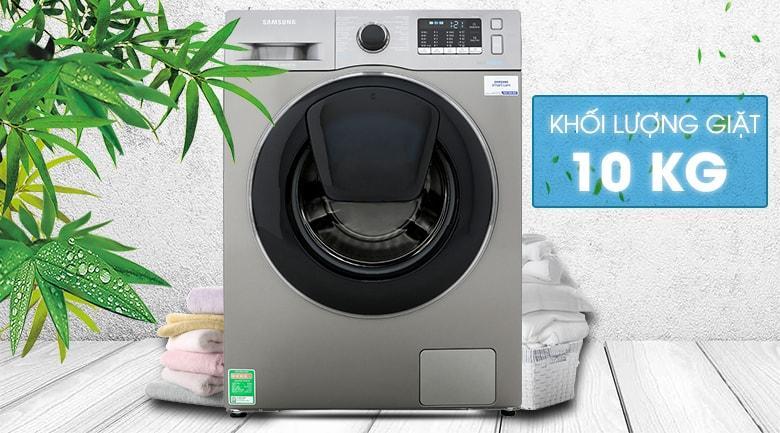 Máy giặt Samsung WW10K54E0UX/SV khối lượng giặt lên đến 10kg