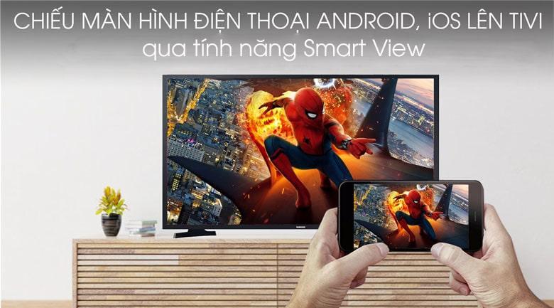 chiếu màn hình điện thoại Android, IOS lên tivi qua tính năng Smart View
