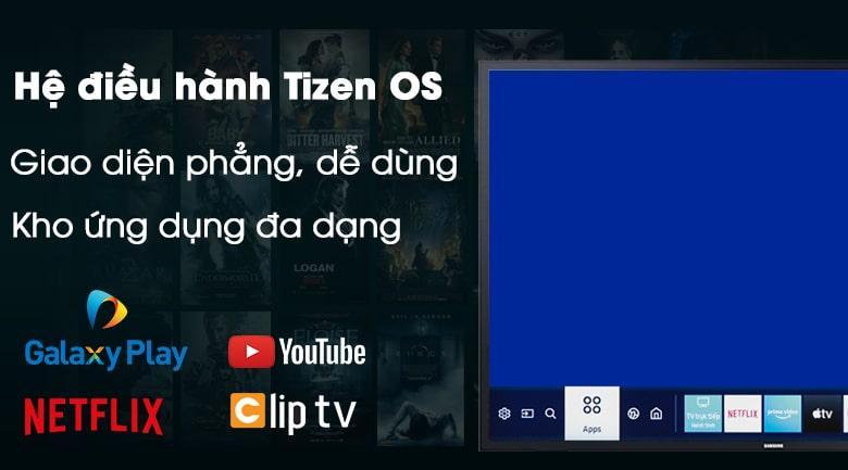 hệ điều hành Tizen OS giao diện phẳng, dễ sử dụng
