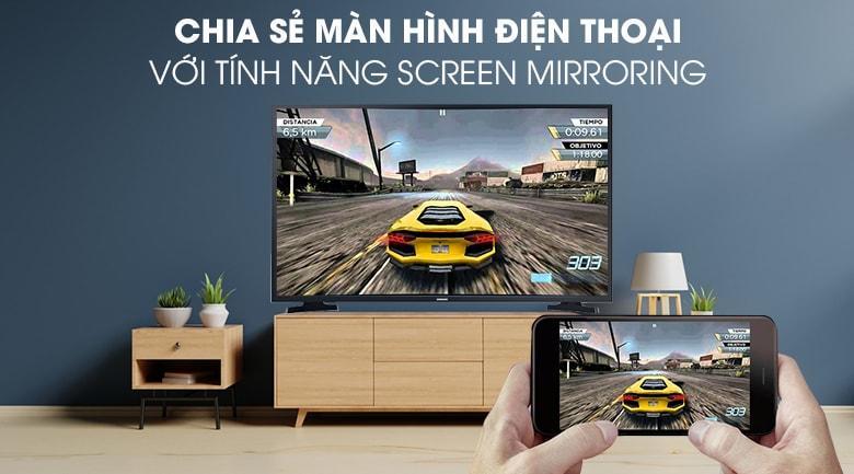 chiếu màn hình điện thoại lên tivi với tính năng Screen Mirroring