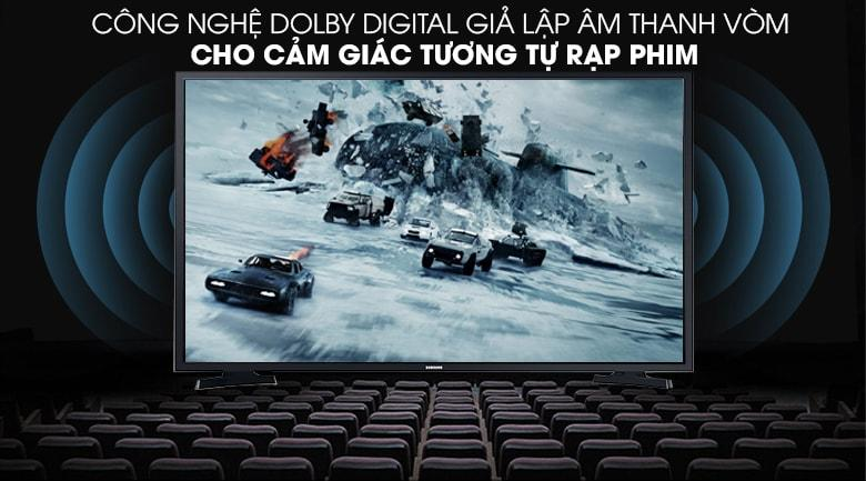 công nghệ Dolby Digital giả lập âm thanh vòm cho cảm giác tương tự rạp phim