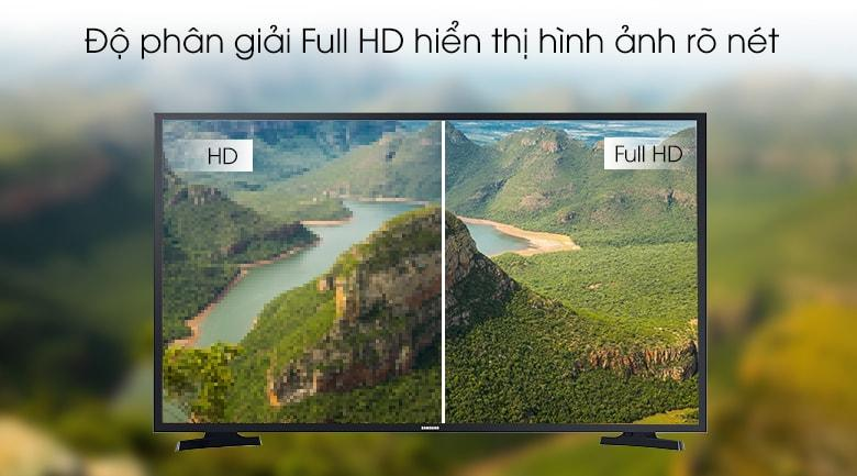 43T6000 hiển thị hình ảnh với độ phân giải Full HD hiển thị hình ảnh rõ nét