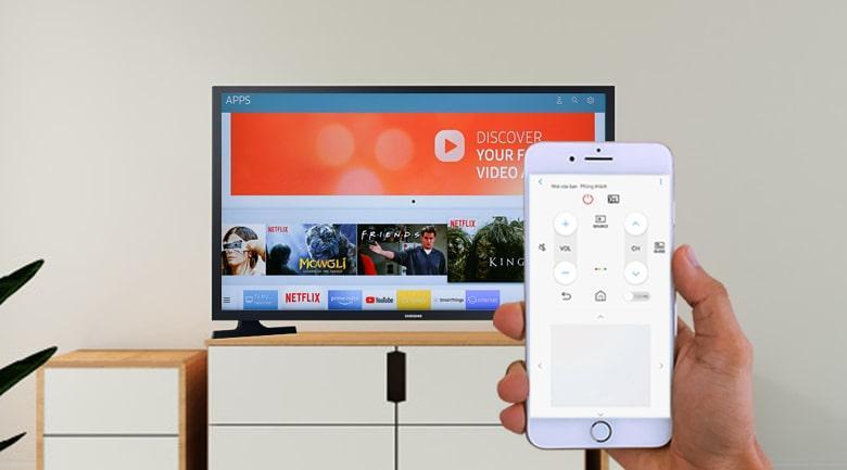 điều khiển tivi bằng điện thoại với tính năng SmartThings