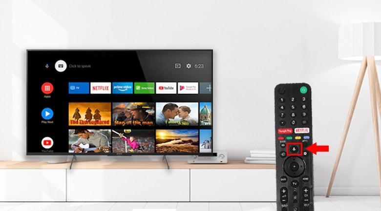Tivi Sony KD-49X8500H cho tìm kiếm giọng nói hỗ trợ tiếng Việt tiện lợi