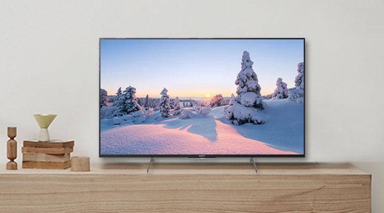 Tivi Sony KD-49X8500H có thiết kế sang trọng