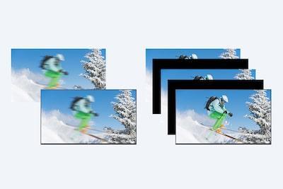 43X8050H giảm mờ cho các hình ảnh chuyển động nhanh