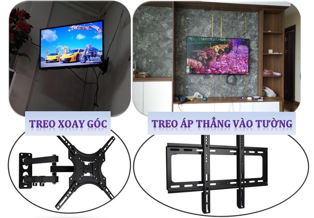 Các loại giá treo tivi trên tường