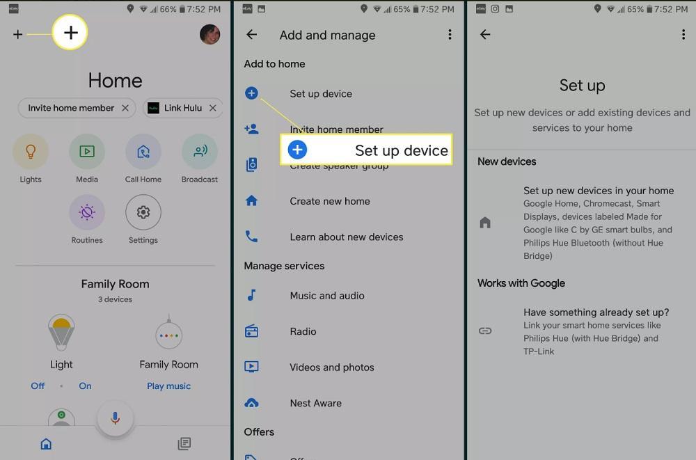 kết nối google home với tivi