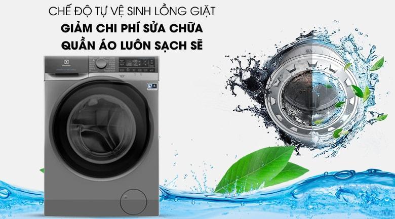 Chức năng tự vệ sinh lồng giặt bảo vệ máy tốt và tiết kiệm chi phí