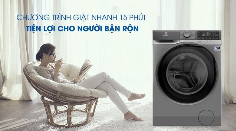 Chương trình giặt nhanh 15 phút rất thích hợp cho những người bận rộn
