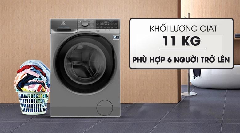 Khối lượng giặt 11 Kg đáp ứng cả những gia đình nhiều thành viên