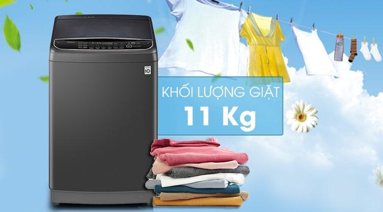 Khối lượng giặt lớn lên đến 11 Kg thoải mái sử dụng