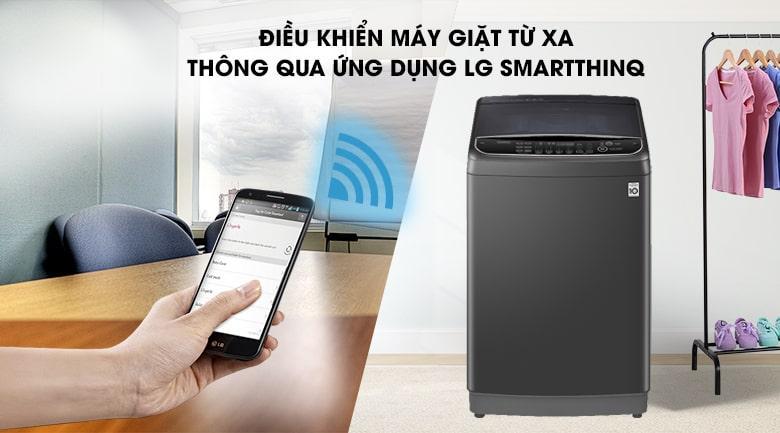 Máy giặt LG TH2111DSAB trang bị ứng dụng SmartThinQ có thể giặt bằng điện thoại