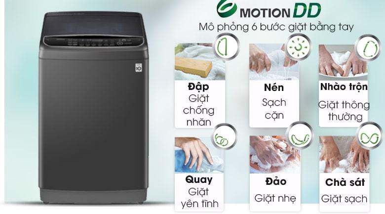 Máy giặt LG TH2111DSAB mang đến khả năng chăm sóc quần áo hiệu quả