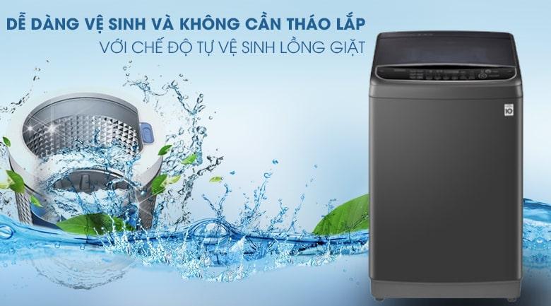 Chế độ tự vệ sinh lồng giặt giúp bạn dễ dàng thực hiện mà không cần phải tháo lắp