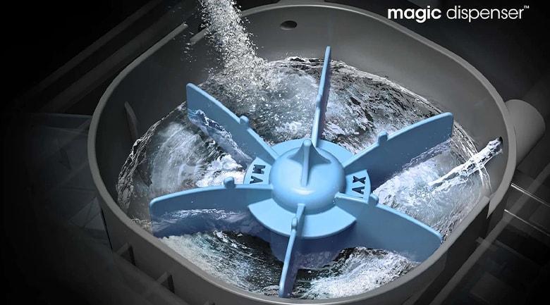 Hộp đánh tan bột giặt Magic Dispenser rất hiệu quả khi giặt