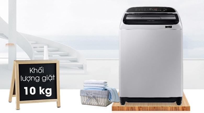 Máy giặt Samsung WA10T5260BY/SV sở hữu khối lượng giặt lên đến 10kg