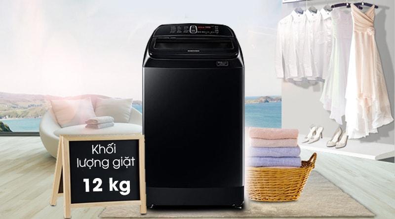 Sở hữu khối lượng giặt 12kg rất lớn, đáp ứng tối đa nhu cầu sử dụng